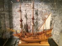 A model ship.