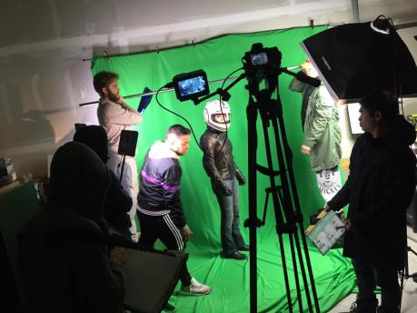 Taken by Rozzie: Day 1 green screen stuff